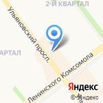 Весёлая расчёска на карте Ульяновска