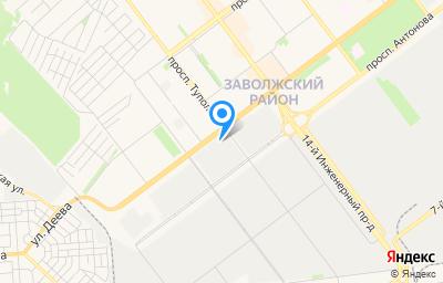 Местоположение на карте пункта техосмотра по адресу г Ульяновск, пр-кт Созидателей, д 27