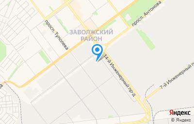 Местоположение на карте пункта техосмотра по адресу г Ульяновск, пр-кт Генерала Маргелова, д 17