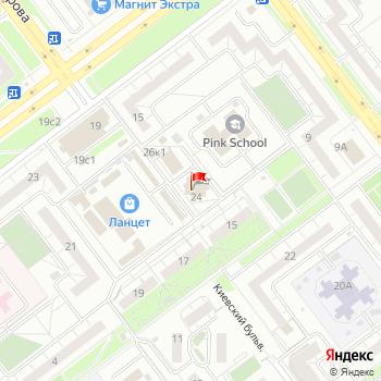 г. Ульяновск, бульв. Киевский,24 на карта