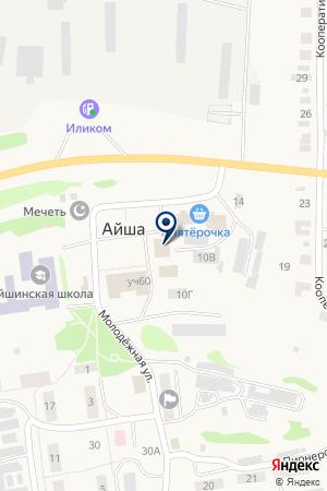 Магнит на карте Айши