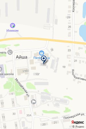 Почтовое отделение на карте Айши