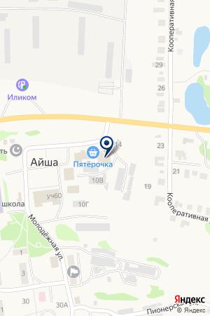 Продуктовый магазин на карте Айши