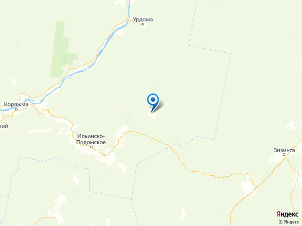 деревня Борок на карте