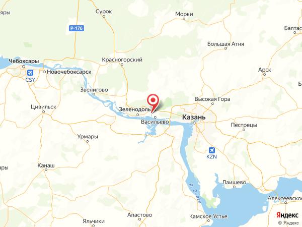 деревня Красный Яр на карте