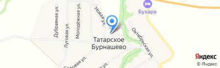 Средняя общеобразовательная школа на карте Татарского Бурнашево