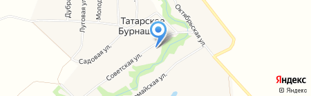 Почтовое отделение на карте Татарского Бурнашево