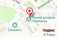 Схема проезда до компании Остров-град Свияжск в Свияжске