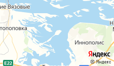 Гостиницы города Свияжск на карте