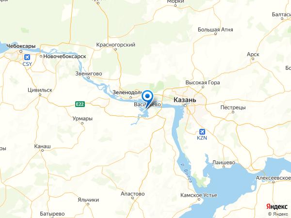 село Свияжск на карте