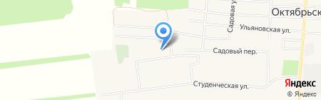 Октябрьский детский сад Василек на карте Архангельского