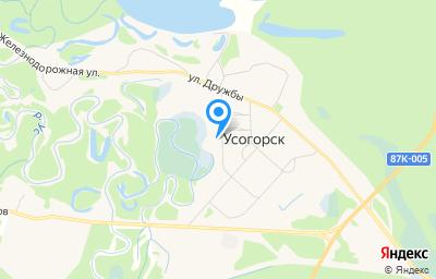 Местоположение на карте пункта техосмотра по адресу Респ Коми, Удорский р-н, пгт Усогорск, ул Советская, д 20