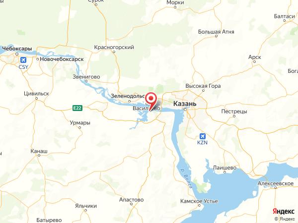 посёлок Детский санаторий на карте