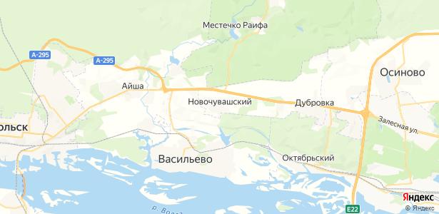 Новочувашский на карте