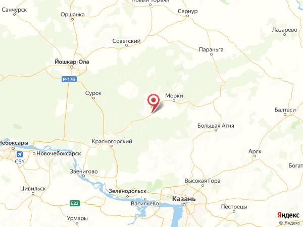 деревня Коркатово на карте