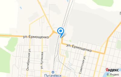 Местоположение на карте пункта техосмотра по адресу Саратовская обл, г Пугачев, ул Ермощенко, д 156Б стр 2