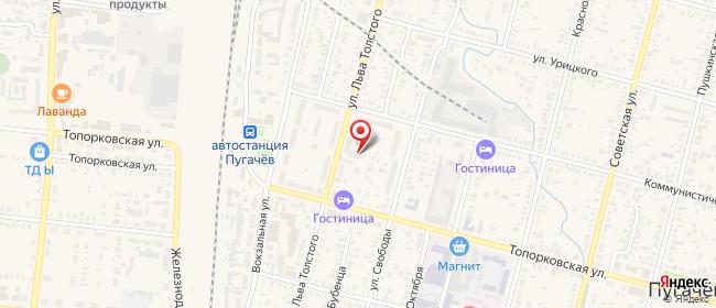 Карта расположения пункта доставки Халва в городе Пугачев