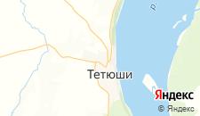 Гостиницы города Тетюши на карте