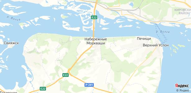 Набережные Моркваши на карте