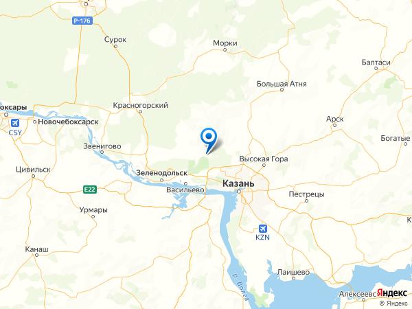 деревня Ивановское на карте