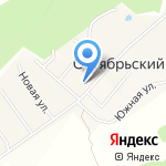 Детский сад на карте Октябрьского