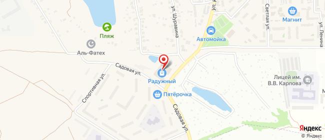 Карта расположения пункта доставки Westfalika в городе Осиново