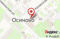 Схема проезда до компании Осиновская амбулатория в Осиново