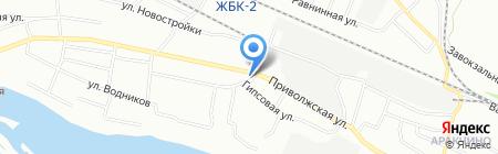Волжанка на карте Казани