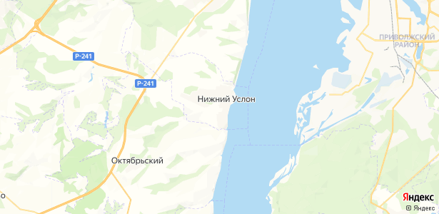 Нижний Услон на карте