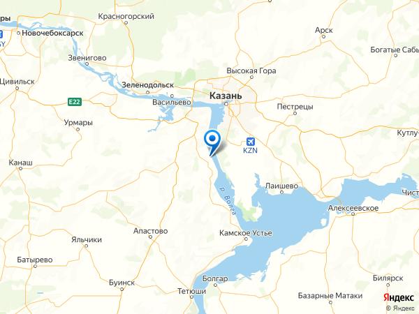 деревня Нариман на карте