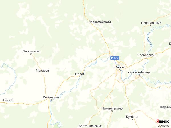 поселок Кодочиги на карте