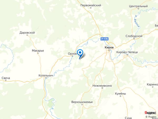 деревня Большие Гари на карте