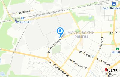 Местоположение на карте пункта техосмотра по адресу г Казань, ул Восстания, д 108А