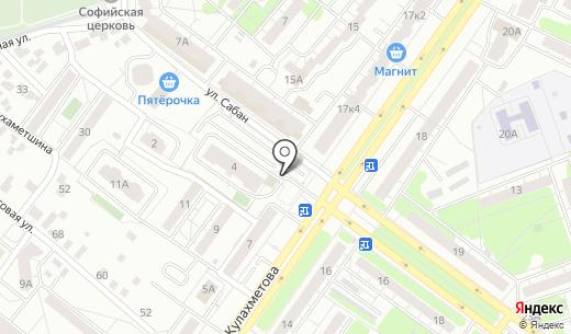 Автостоянка на ул. Сабан. Схема проезда в Казани