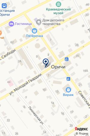 Искра на карте Оричей