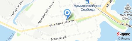 Снежок на карте Казани