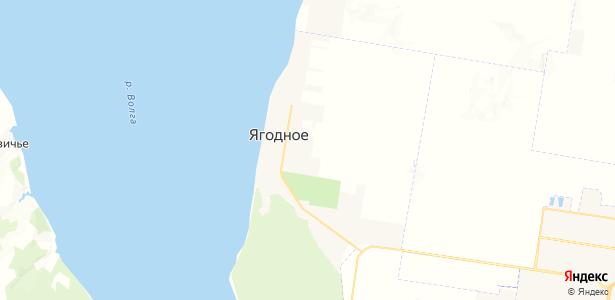 Ягодное на карте