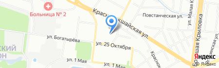 Открытая сменная общеобразовательная школа №7 на карте Казани