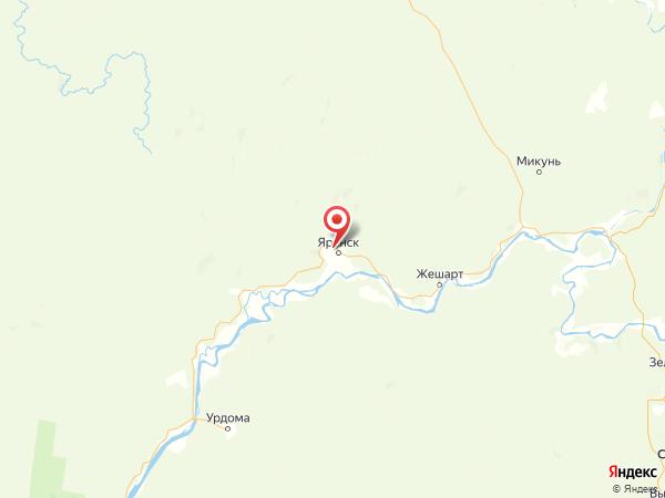 деревня Юргино на карте