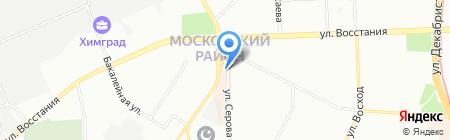 Магазин женской одежды на ул. Кулахметова на карте Казани