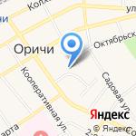 Оричевское отделение вневедомственной охраны на карте Кирова