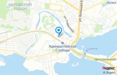 Местоположение на карте пункта техосмотра по адресу г Казань, ул Кожевенная, д 46