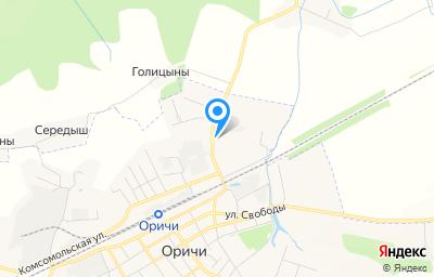 Местоположение на карте пункта техосмотра по адресу Кировская обл, пгт Оричи, ул Степана Халтурина, д 12