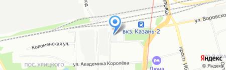 Мобиль на карте Казани