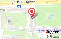Схема проезда до компании Эра Плюс в Казани