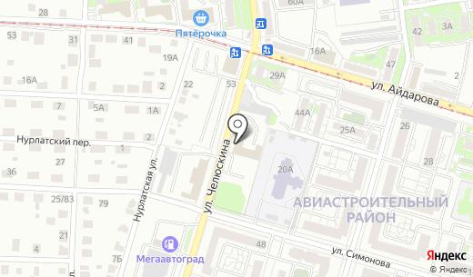 Отдел полиции №1 Авиастроительный. Схема проезда в Казани