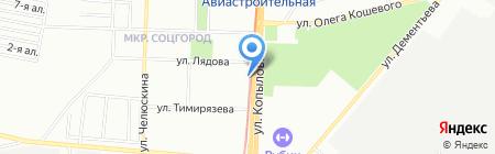 Материк на карте Казани
