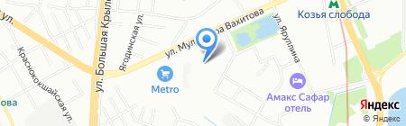 Авангард на карте Казани