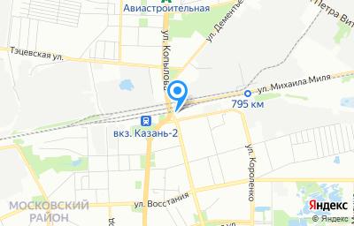 Местоположение на карте пункта техосмотра по адресу 420057, Татарстан Респ, г Казань,Ново-Савиновский р-н, СНТ им Воровского, гараж 58