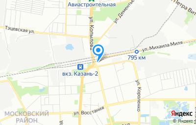 Местоположение на карте пункта техосмотра по адресу г Казань, тер СНТ им Воровского, д 58